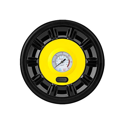 Compresor Coche Hinchador Electrico Inflador de neumáticos con manómetro Herramienta de aire Inflador de neumáticos Pointer,One Size