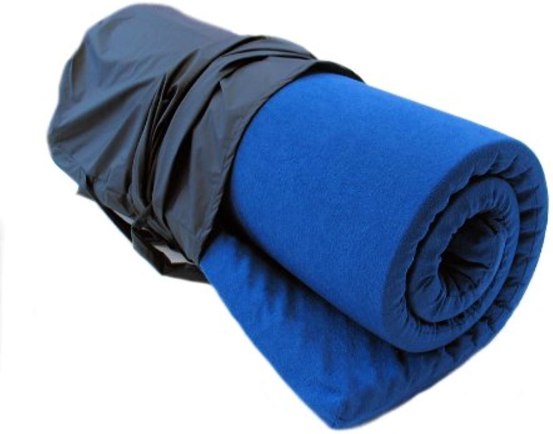 Biona Reise-Matratzenauflage; 6 cm Viscoschaum und Matchsack blau (Frottee blau)
