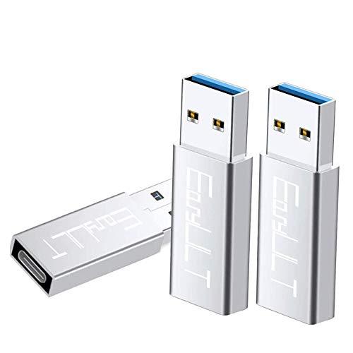 EasyULT USB C Adapter auf USB 303 Stuck Mini Adapter USB C Buchse auf USB 30 USB Typ C Adapter fur Huawei P9P10 Mate20 Galaxy S9S8plus Note98 usw Silber