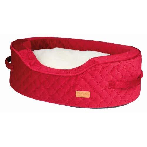 Croci C2374058 Red Velvet ovale kussen voor dieren, 58 x 43 x 20 cm