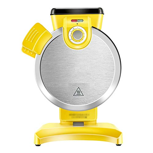 Huishoudelijke Waffle Machine, Verticaal Electric Cake Maker, 800W, Anti-aanbaklaag, Knop Verwarming Indicator Design, Exclusieve Smaak met One Touch, Goed for Wafels (Color : Yellow)