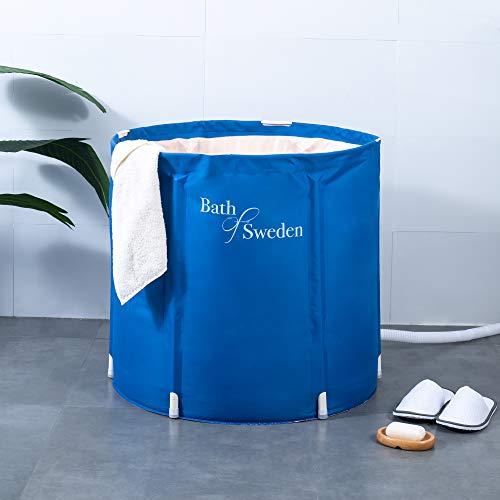 Schwänlein Mobile Faltbare Badewanne 70x65cm Blau mit Kissen
