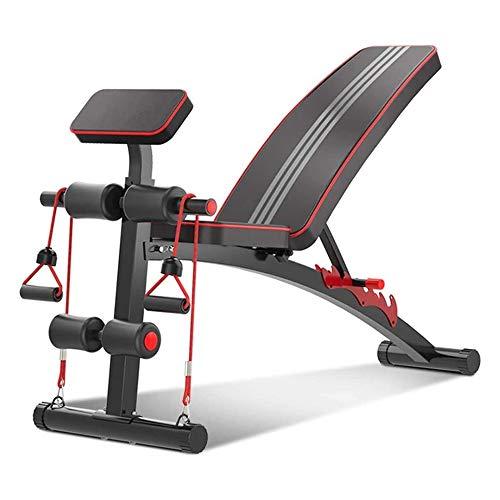 QXF-DJSY Gewichtheben Hantel Bank Multifunktion Haushalt Bauchmuskeln Fitness Stuhl Männer und Frauen Sit-ups Rückenbrett Fitnessgeräte MSMS