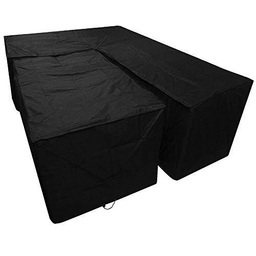 Funda protectora para muebles de jardín, en forma L, impermeable, resistente al polvo, protección UV, con bolsa almacenamiento, sofá patio aire libre (215 x 215 87 cm + 155 95 68 cm) ⭐