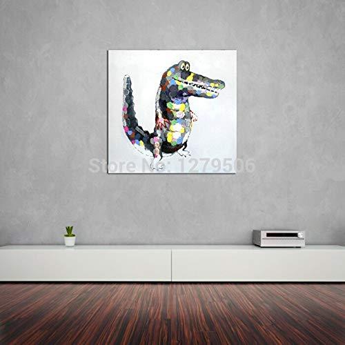 wZUN Representación Pintura Pintura al óleo Pintura Mural sobre Lienzo Pintura al óleo Sala de Estar Pintura al óleo Animal sobre Lienzo Mural 60x60 Sin Marco