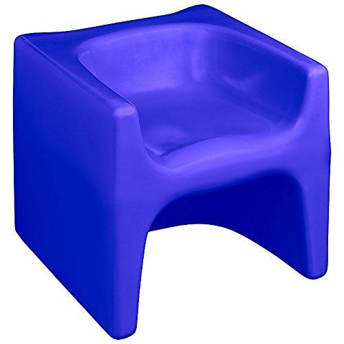 esku DADU Kinderhocker mit DREI Sitzhöhen für Innen- und Außenbereich | wetterfester Wendehocker für Kinder | kippstabil, abwaschbar, UV-stabil in vielen schönen Farben