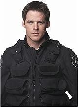 Ben Browder Stargate SG-1 in Black Uniform and Vest White Background 8 x 10 inch photo