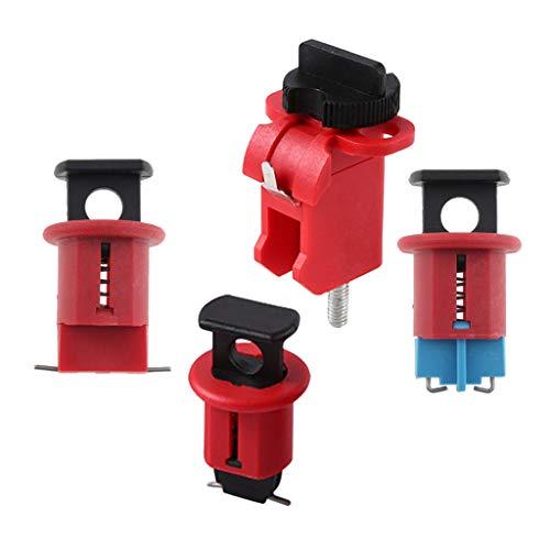 Dispositivo Di Sicurezza Per Blocco Di Interruttori Magnetotermici In Miniatura Da 4 Pezzi, Blocca Virtualmente Tutti Gli Interruttori Di Circuito Min