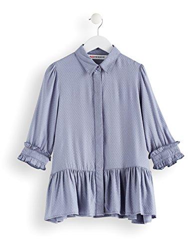 Amazon-Marke: RED WAGON Mädchen Hemdkleid mit Schößchen, Blau (Blue), 146, Label:11 Years