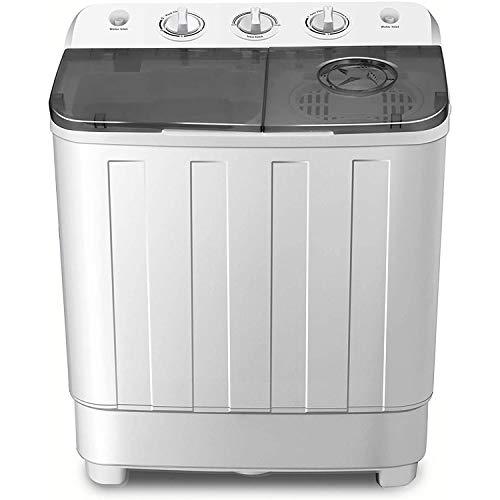 Lavadora portátil de Doble Tina, 7.6 KG de Capacidad Total Lavadora y Secadora Combo Compacto para Acampar Dormitorios Apartamentos Habitaciones universitarias