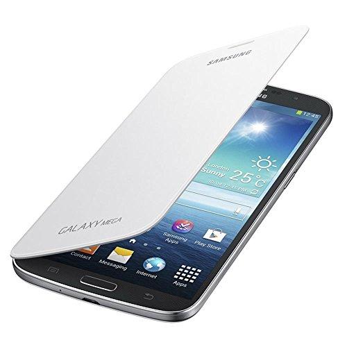 Samsung Flip - Funda para móvil Galaxy Mega 6.3 (Permite hablar con la tapa cerrada, sustituye a la tapa trasera), blanco