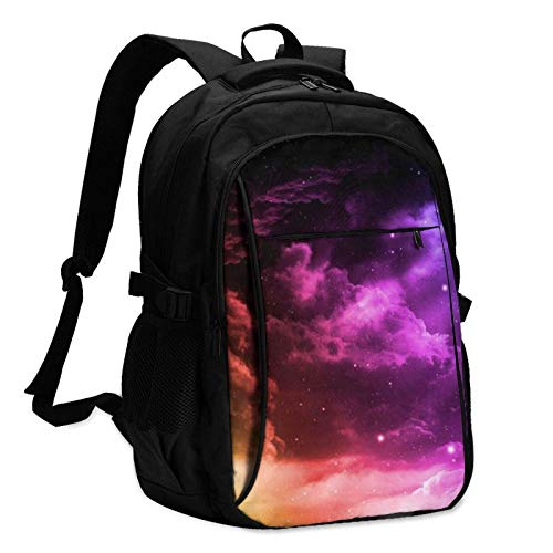 XCNGG Colourful Galaxy Stars Travel Laptop Backpack with USB Charging Port Multifunction Work School Bag