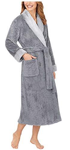 Carole Hochman Ladies' Plush Wrap Robe (Grey, X-Large)