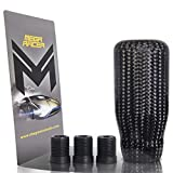 Mega Racer 100% Real Carbon Fiber Shift Knob for Buttonless Automatic and 4, 5 and 6 Speed Manual Transmission Vehicles