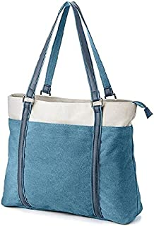 حقيبة للنساء-ازرق - حقائب يد كبيرة بحمالة