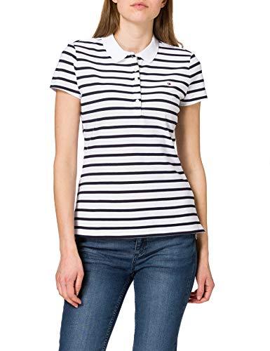 Tommy Hilfiger Short Sleeve Slim Polo Stripe Camiseta sin Mangas para bebés...