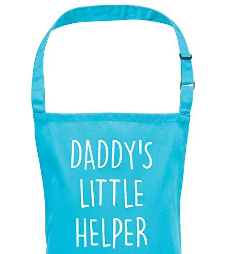 infantil Delantal niño Daddy Little Helper Azul Para Niños Delantal Regalo Día del Padre Disponible en 2 Tamaños Bebés 3-6 Years infantil 7-10 YEARS - Azul, Infant (3-6 Years)