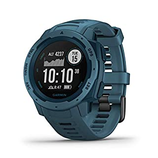 Garmin Instinct, Rugged Outdoor Watch with GPS, Features GLONASS and Galileo, Heart Rate Monitoring and 3-Axis Compass, Lakeside Blue (B07PN8C9V2) | Amazon price tracker / tracking, Amazon price history charts, Amazon price watches, Amazon price drop alerts