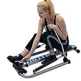 Qazxsw Rudergerät,Haushalt Trainingsrudergerät Wasserbeständigkeit Hydraulische Rudergerät Indoor Fitnessgeräte,Schwarz,126 * 58 * 75cm - 2