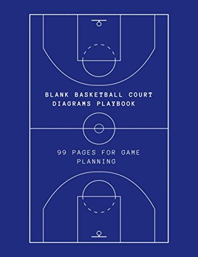 Blank Basketball Court Diagrams Playbook: 99 pages for game planning