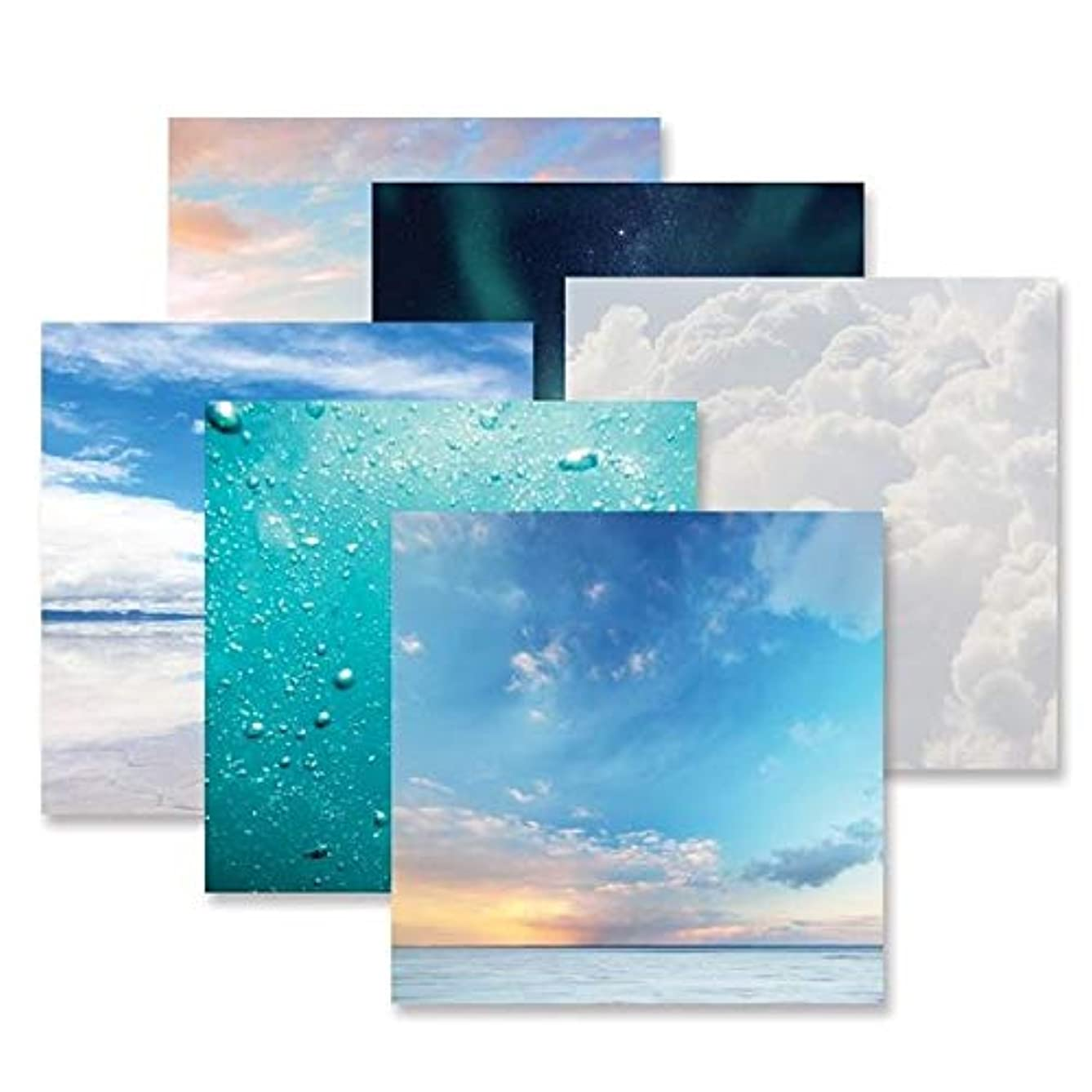 Creative Memories Sky & Water Paper Pack 12 pk, 12 x 12 Double Sided Printed Paper