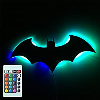 7 Color Mirror USB 3D Batman Remote Control LED Night Light Home Decoration Atmosphere Projection Lamp Wall Lamp Children'...