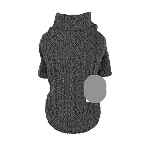 PONNMQ 3D Design Haustier Mascotas Kleidung Pullover Herbst Winter 5 Farben Großhandel Stricken Häkeln Kleidung Für Hunde Chihuahua Dackel, Schwarz, S