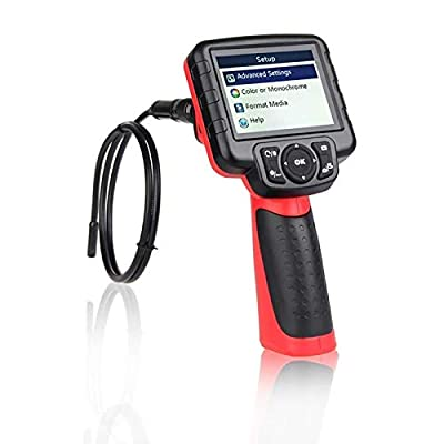 """Autel 5.5mm Maxivideo MV400 Inspection Video Scope with 0.22 inches Diameter Camera Probe 5 Times Digital Zoom LED Illumination 3.5"""" LCD Monitor from Autel"""