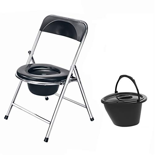 Easy to Use Stainless Steel Commode Chair, Commodes Toilet Bath Chair Bedside Toilet, Sitting Stool Change Squat Pit, The Best Gift