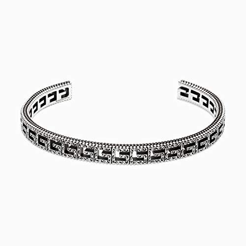 Gucci zilveren armband G Cube - Unisex - Italiaans Maat 16