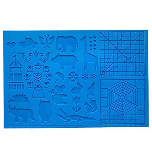 Silicone Drawing Board 3D Pen Mat 3D Pen Stencils Book 3D Pen Drawing Tools Blue