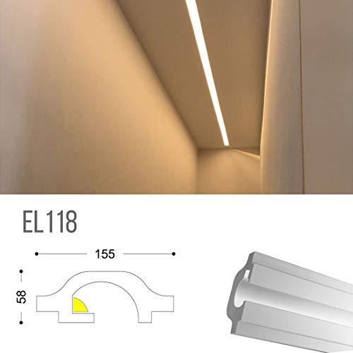 EL118 - Taglio di luce indiretta led a soffitto da incasso nel cartongesso