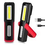 Tanouve Linterna LED Recargable,Linterna de Trabajo Linterna LED Recargable Taller Linternas Alta Potencia con Base Magnética para Emergencia, Taller, Automóviles