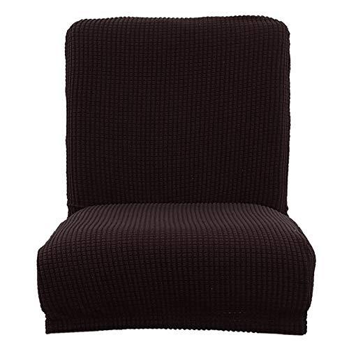YAYANG Chair Cover Cubierta de Silla de Silla de Silla de Jacquard para la Silla de Taburete de la Barra de la Silla de Espalda Baja Casual (Color : Black)