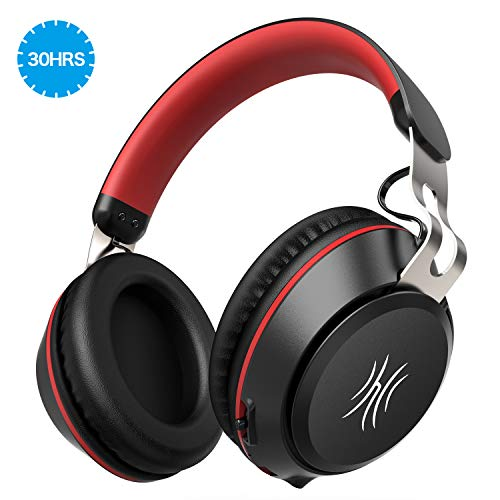 Find Discount Bluetooth Headphones,30 Hours Play Time Wireless Over Ear Headset with Built-in Microp...
