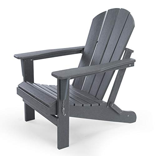 LAYRIAR HDPE Classic Outdoor Foldable Adirondack Chair for Patio Deck Garden,Backyard & Lawn...