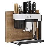 TNSYGSB Tenedor de Cuchilla de encimera de Cocina de Acero Inoxidable Tenedor de Cuchillo Vertical, Palillos, Tabla de Cortar y Cuchillos Integrados Organizador Cocina (Color : 304)