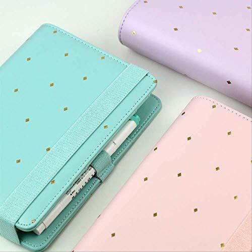 Nueva Llegada Estrella Jm Polka Dot 6 Hoja Suelta Notebook A5 A6 Organizador Planificador Con Elastic Bind Match Dokibook Filler