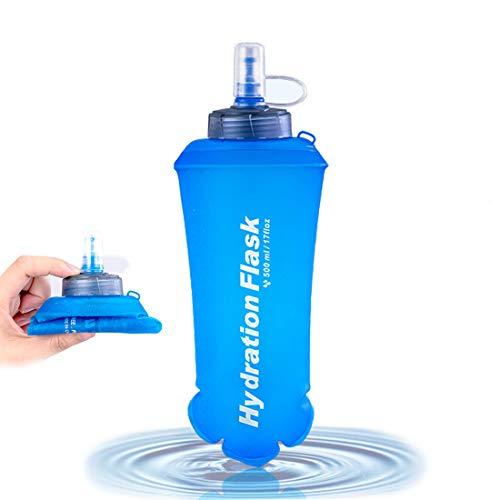 CZNDY Soft Flask 500ml,Botella de Agua Plegable,para Trinkrucksack, Bolsa Agua Mochila,Cubo Plegable Robusto,Bicicleta, Senderismo, Footing, Trekking, Camping y Escalada.