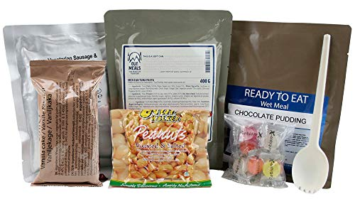 Ration-X All Day Ration Pack 2290 kcal Ready to Eat Wet Meals Plus Snacks Menu 4