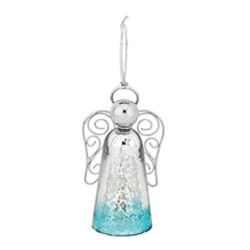 Glass Angel Bell Ornament - 7