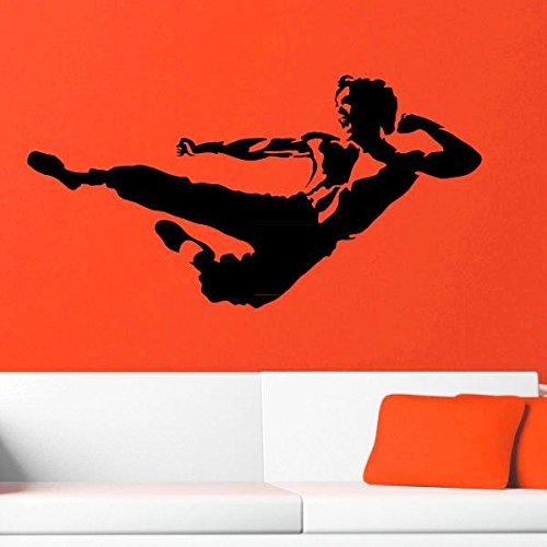 Ambiance-Live Bruce Lee Karate Sprung Pose - 70 x 35 cm, Schokolade
