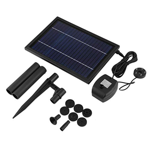 SP025 moderne mini zonne-energie zonnepaneel fontein zwembad tuin besproeiingspomp (zwart)