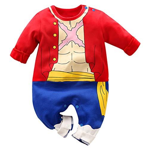 Dragon Ball Z Design Baby Jungen Mädchen Strampler Cosplay Kostüm Goku-inspiriert Säugling Outfit Overall Kleidung, B Lange Ärmel, 59 CM / 1-3 Monate