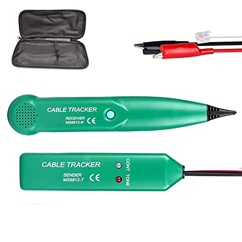 RUIZHI Multifunktionskabeltester Kabelfinder MS6812 ist einfach zu bedienen, Telefonleitungstest, LAN-Netzwerkkabel Netzwerkkabeltester cable