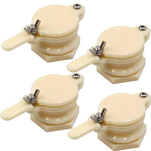 PROBEEALLYU Honighahn, 4 Stück Honigabzieher Honigtorventil Imkerei Abfüllwerkzeug Imker Ausrüstung