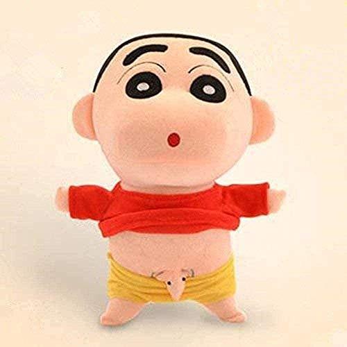 LFSLAS Plush Toys 35 cm Cosplay Japanese Anime Shin-Chan Naughty Crayon Shin Chan Stuffed Plush Doll Toys for Children Toy Entertainment Decoration Gifts Toy