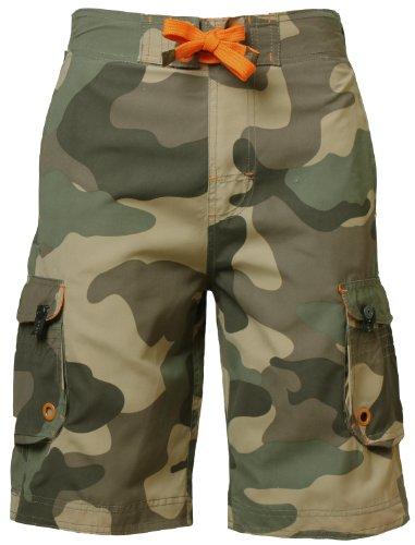South Shore Shorts camo militaire multi poches pour homme MS28126, Kaki, Moyen
