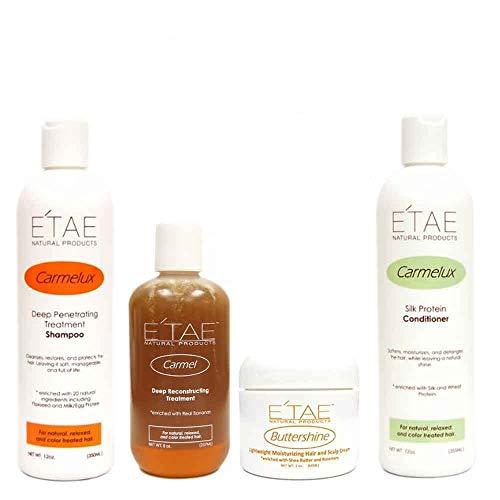 Natural Hair Kit including eHairClub Hair Tools and Etae Carmel Natural Products