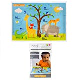Neat Solutions Table Topper Disposable Stick-on Placemats in Reusable Package,...